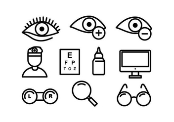 Free Eye Doctor Vector Icons - Free vector #422329