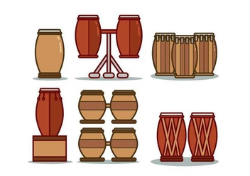 Conga Illustration Set - Free vector #422359