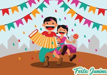 Festa Junina Party Background - vector #422379 gratis