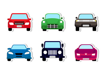 Front Car Sticker Design - vector gratuit #422409