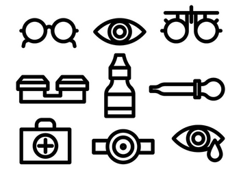 Linear Eye Doctor Icons Vector - vector gratuit #422449