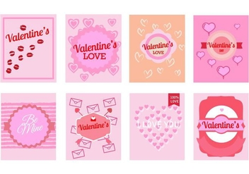 Free Valentine's Day Greeting Cards Vector - бесплатный vector #422529