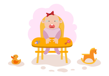 Free Crying Baby Illustration Vector - Free vector #422539