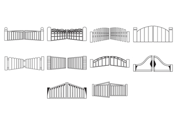 Free Gate Icon Vector - vector gratuit #422639
