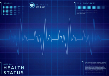 Detailed Heart Rate Background Free Vector - бесплатный vector #422659
