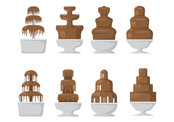 Chocolate Fountain Icons - vector #422809 gratis