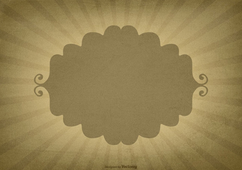 Retro Sunburst Background w/Blank Label - vector gratuit #422939