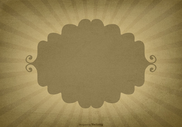 Retro Sunburst Background w/Blank Label - Free vector #422939