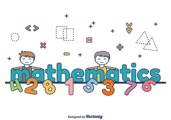 Mathematics Word Vector - бесплатный vector #422959
