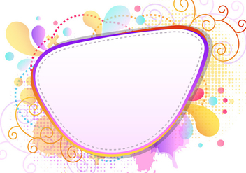 Colorfull Splash Of Funky Frames - vector gratuit #423019
