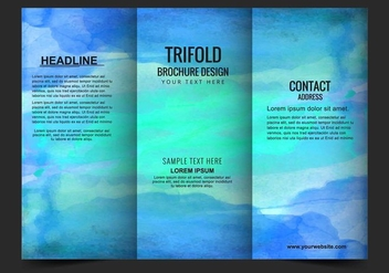 Free Vector Modern Trifold Brochure Template - Free vector #423059