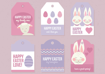 Vector Collection of Easter Labels - vector gratuit #423099