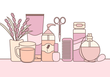 Vector Illustration of Skin Care Products - бесплатный vector #423109