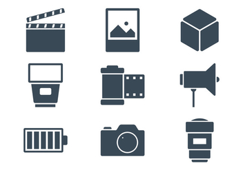 Photography Icons - vector #423209 gratis