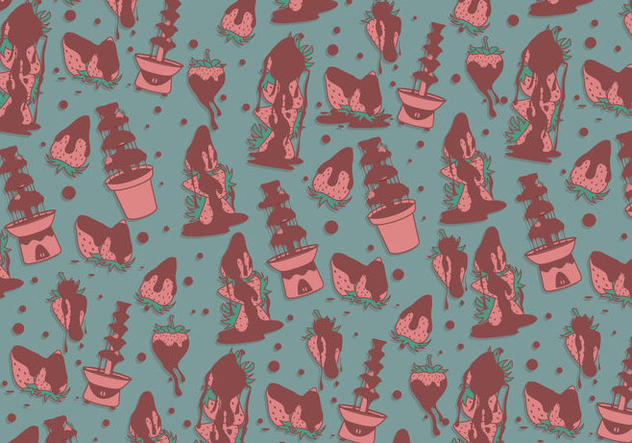 Chocolate Fountain Pattern Vector - vector #423269 gratis