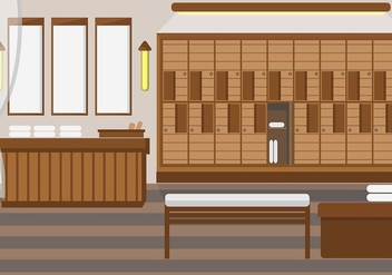 Dressing Room Spa Vector - vector gratuit #423289