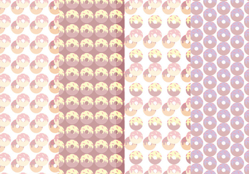 Vector Collection of Seamless Donuts Patterns - Free vector #423329