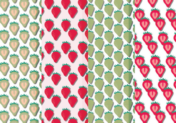 Vector Seamless Patterns of Strawberries - vector gratuit #423339