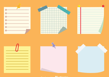 Sticky Notes Vectors Set - vector gratuit #423489