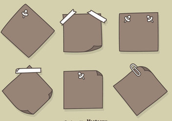 Hand Drawn Sticky Notes Vectors - vector gratuit #423499