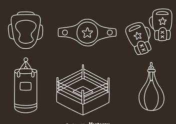 Boxing Element Line Vectors - Free vector #423509