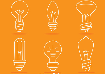 Light Bulb Line Vectors - Free vector #423529