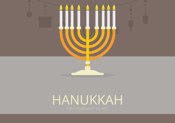 Happy Hanukkah Illustration - бесплатный vector #423549