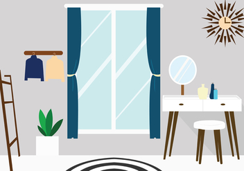 Scandinavian Dressing Room - vector gratuit #423559