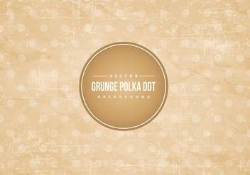 Grunge Polka Dot Background - vector gratuit #423569