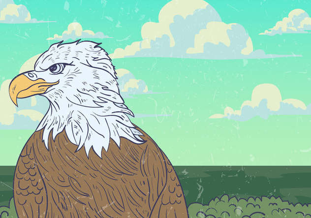 Wild Eagle Vector Background - бесплатный vector #423579
