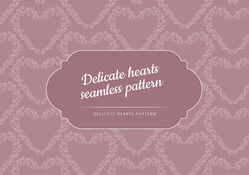 Vector Seamless Patter of a Delicate Heart - vector gratuit #423599