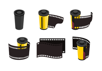 Film & Canister Free Vector Collection - vector #423649 gratis