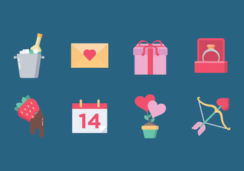 Valentine's Day Icon Set - vector gratuit #423859