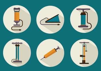 Air Pump Tools Icon Set Vector Flat - бесплатный vector #423899