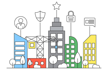 Free Smart City Flat Illustration - vector gratuit #423969