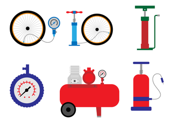 Air Pump Vector set - бесплатный vector #424139