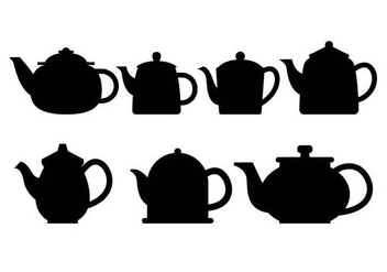 Teapot Silhouette Vector Set - Free vector #424199