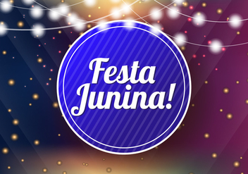Festa Junina Template Background - vector #424259 gratis