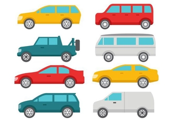 Free Flat Car Collection Vector - vector gratuit #424299