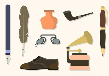 Flat Vintage Stuff Collections - Free vector #424319
