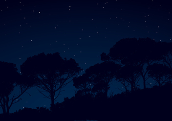 Starry Night Sky Illustration - Free vector #424379