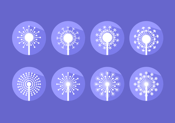 Modern Flat Icon Blowball Free Vector - бесплатный vector #424569