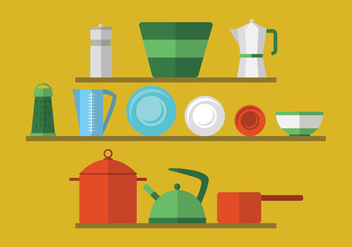 Retro Kitchen Utensils - Free vector #424579