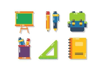 Free Unique School Icon Vectors - vector #424619 gratis