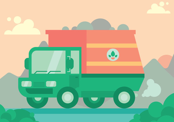 Garbage Truck Vector Set - бесплатный vector #424729