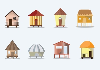 Tropical Cabana Free Vector Set - бесплатный vector #424799