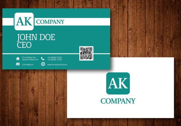 Business Card design - vector #424869 gratis