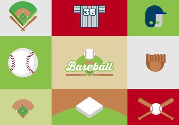 Free Baseball Diamond Vector Design - Free vector #424889