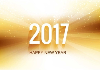 Free Vector New Year 2017 Background - vector gratuit #424929