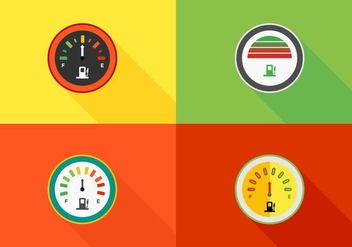 Colorful Speedometers Vector - vector gratuit #424949
